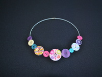 Knoflíkové jaro - náhrdelník